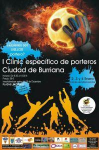 Cartel I Clinic Porteros Burriana