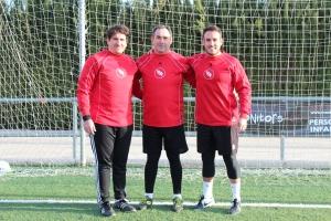 Javi Guerola, Ramón Marqués y Carlos Gomez, técnicos especialistas en entrenamiento de porteros-2