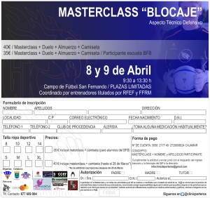 Hoja de inscripción Masterclass 2015