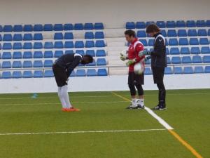 Carlos Gómez con Emeka y Dani