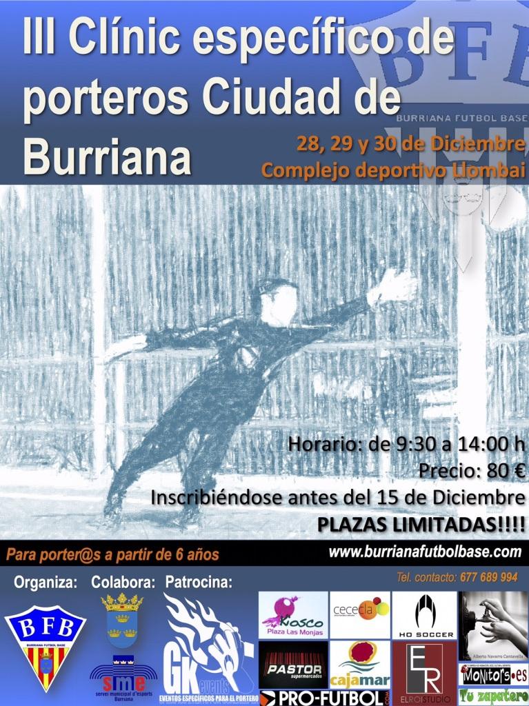 III CLÍNIC ESPECÍFICO DE PORTEROS CIUDAD DE BURRIANA